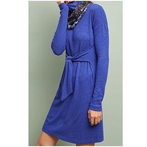 Anthropologie Olivia Turtleneck Dress Blue NWT